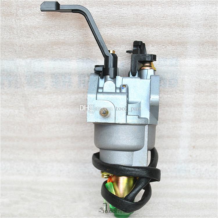 Karbüratör B Stil Honda GX340 EC5500 5KW Motor solenoid vana ile Manuel şok yedek parça