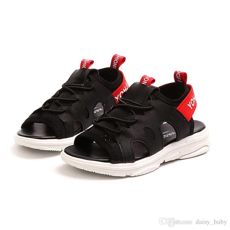 c99adf24654cf Acheter Sandales D été Enfant Unisexe Enfants À Bout Ouvert Sandale  Respirant Chaussures Enfant En Bas Âge Pour Garçon Fille Plage Sandales  Chaussure À Fond ...