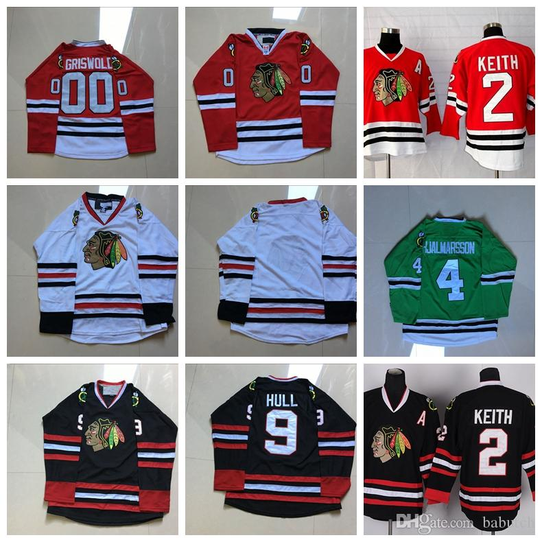 Chicago Blackhawks Hockey Jerseys 00 Clark Griswold 2 Duncan Keith 4 ... 86b25bd84
