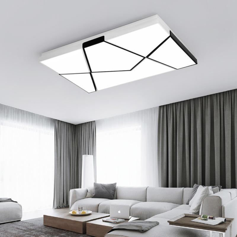 Led deckenleuchten wohnzimmer licht einfache moderne led deckenleuchte  rechteckige atmosphäre stufenlos warmen raum schlafzimmer lampenabaju