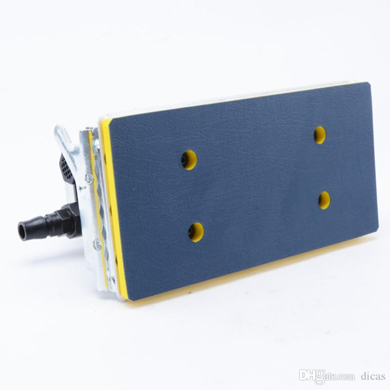 Ücretsiz kargo 90 * 180mm dikdörtgen pnömatik zımpara makinesi kum sallamak makinesi zımpara taşlama aracı hava parlatıcı rüzgar sander