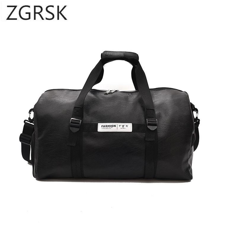 PU Leather Travel Duffle Bag Women Casual Handbag Men Travel Duffel Bags  Male Female High Quality Large Capacity Luggage Bags Briefcases Overnight  Bags From ... d126cc6eb2