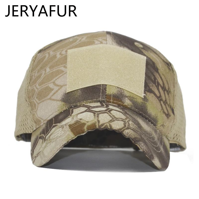6922955132ed52 2018 JERYAFUR Outdoor Python Pattern Camouflage Mesh Cap Male Tactical Baseball  Cap Men And Women Special Forces Snapback Hats Mens Caps La Cap From Saucy,  ...