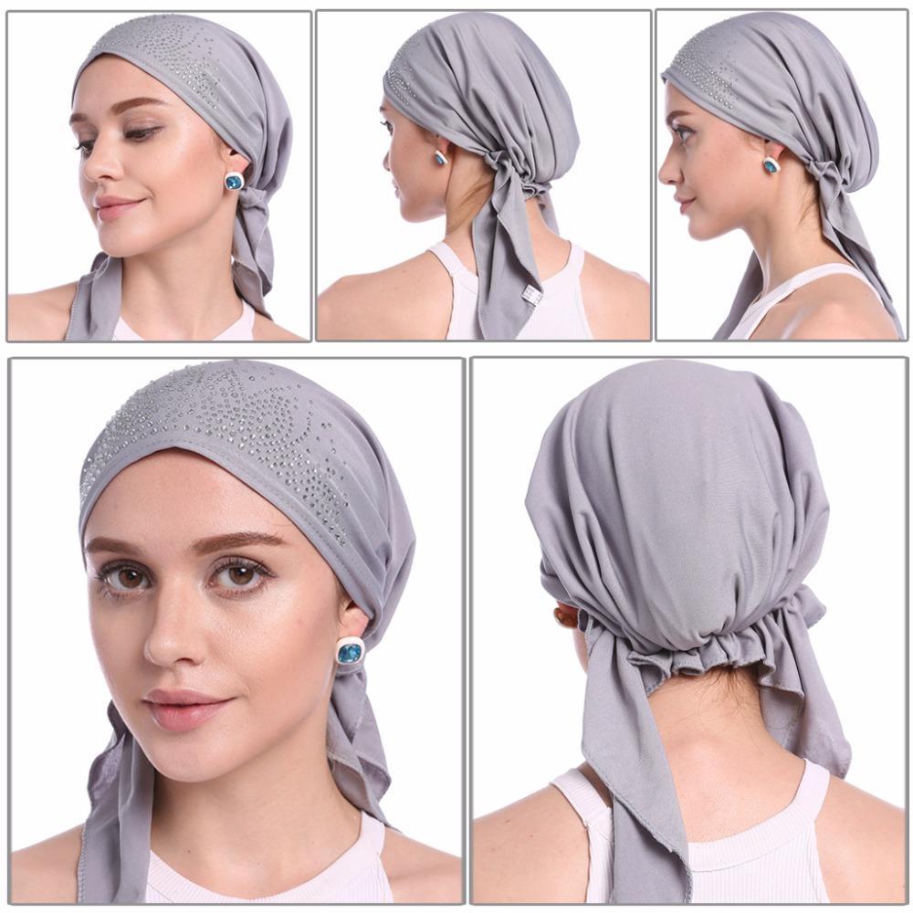 2019 Fashion Muslim Women Lady Inner Hijab Cap Islamic Underscarf Headwear  Hats Gift From Trousseau 2789e01b072