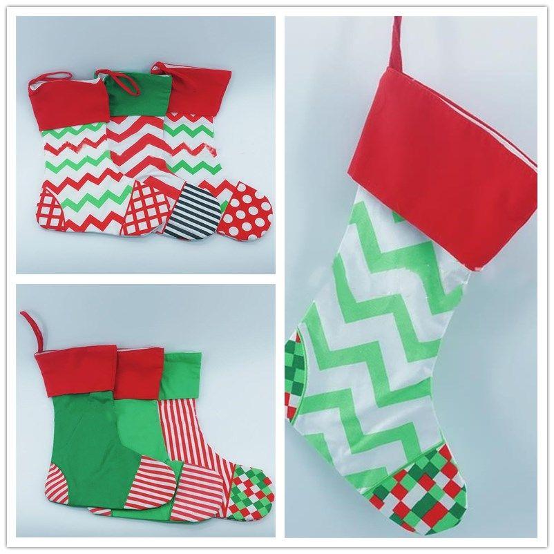 Christmas Gifts Bags Xmas Ornaments Bag Decorative Drawstring Bags Canvas Christmas Stockings Bag Christmas Decorations I362