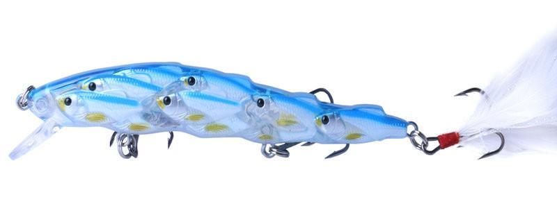 Live Target Bass Crankbaits Süßwasserköder 11,5 cm 15,7 g Vivid Laser Swimbaits Angelköder 6 # Haken mit Feder