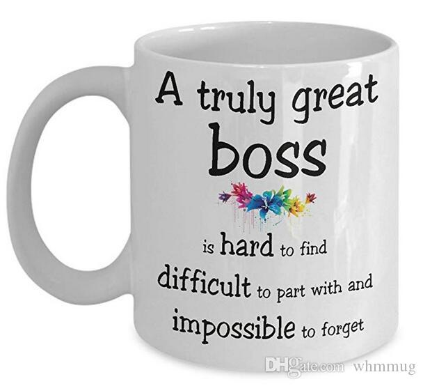 df75053987e A Truly Great Boss Is Hard To Find Difficult To Part With And Impossible To  Forget Coffee Ceramic Mug, Tea Cup, Christmas Cups And Mugs Christmas Mugs  From ...