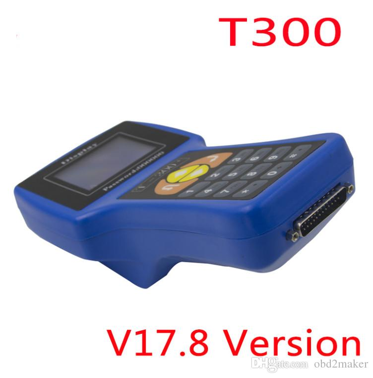 Newest V17 8 Auto Key Clone Tool T300 Transponder Key Programmer T-300+ by  Read ECU-IMMO for multi-brand Car English/Spanish