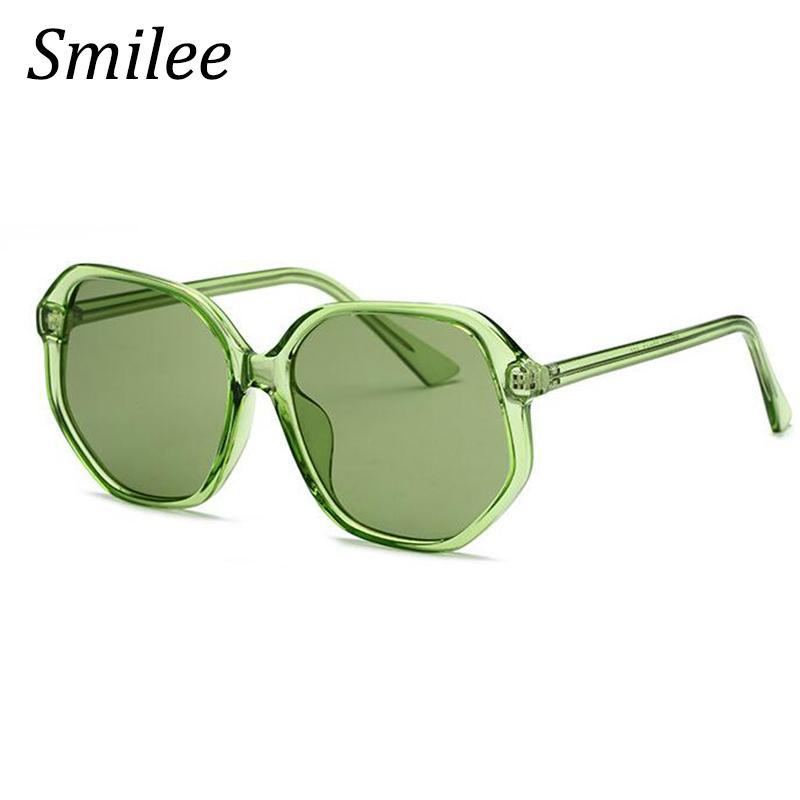 d18db2841a9 Crystal Green Sunglasses Designer Brand Luxury Women 2018 Transparent Frame Sun  Glasses Female Colorful Round Summer Shades Glasses Online Polarized ...