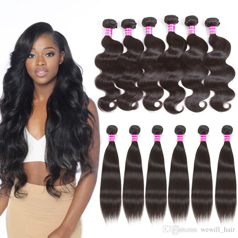 Cheap Brazilian Virgin Human Hair Weave 4 Bundles Or 6 Bundles Body
