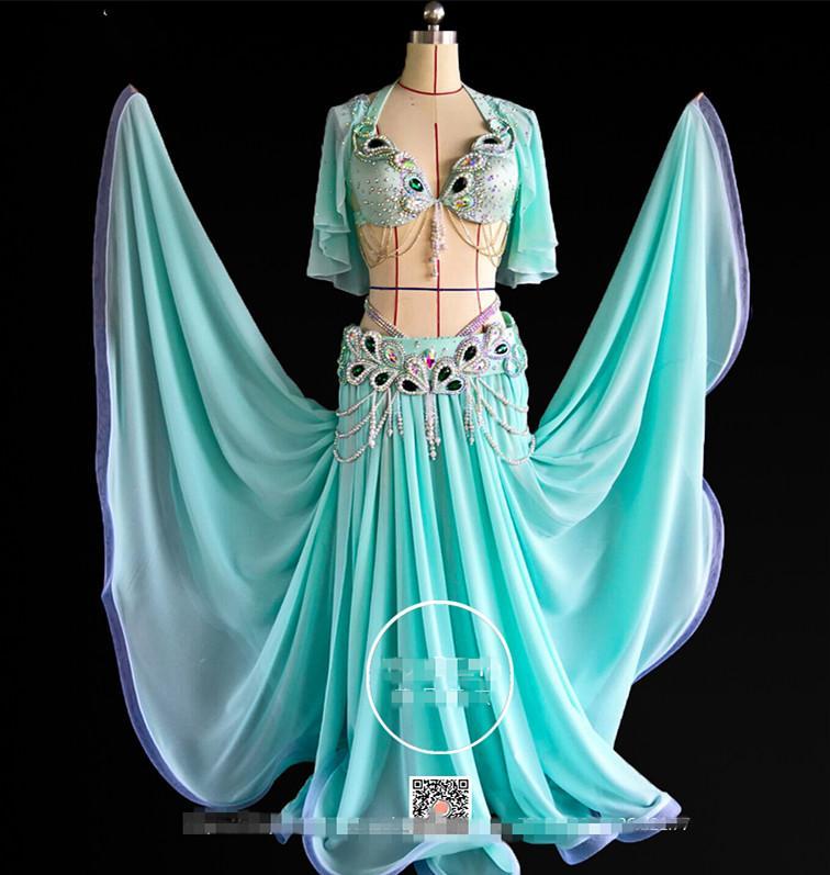 413fa68c127 Acheter Ventre Indien Du Désert Oriental Balançoires Baladi Costumes De Danse  Danse Orientale Danse Costume Costume Soutien Gorge Ceinture Jupe Robe 3606  De ...