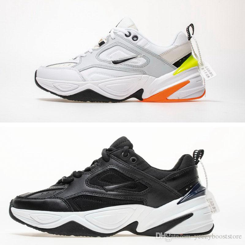 quality design 7f242 83541 Compre 2018 NUEVO Air Monarch M2K Tekno Dad Zapatos Deportivos Para Correr  Pure Platinum Negro Blanco Mujer Hombre Diseñador Zapatillas Zapatillas ...