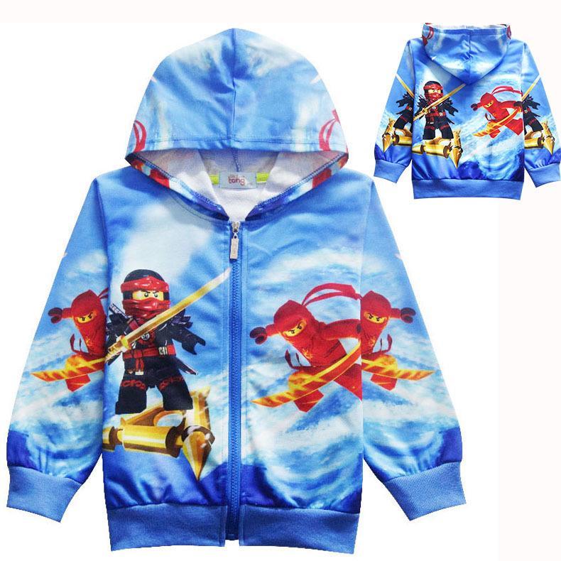 Compre 2018 Outono Dos Desenhos Animados Meninos Meninas Ninjago Crianças  Hoodies Manga Longa T Shirt Crianças Clothing Camisolas Menino Esporte  Casacos 3 ... e8b13cfeab491