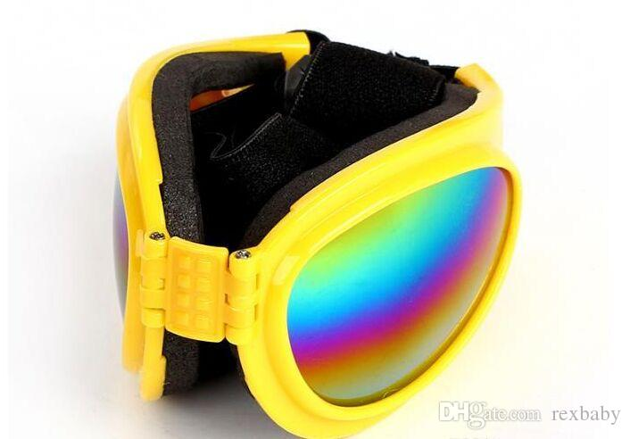 Pliable animaux Lunettes de soleil pour chiens Petit Moyen Grand Chiens UV Lunettes de protection des yeux Doggles Toilettage Accessoires 6 Couleur