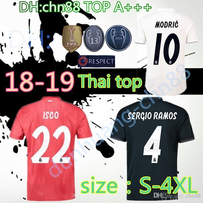 ... usa 2018 2018 2019 real madrid soccer jersey 18 19 thai top home white  away black e3eb9f747
