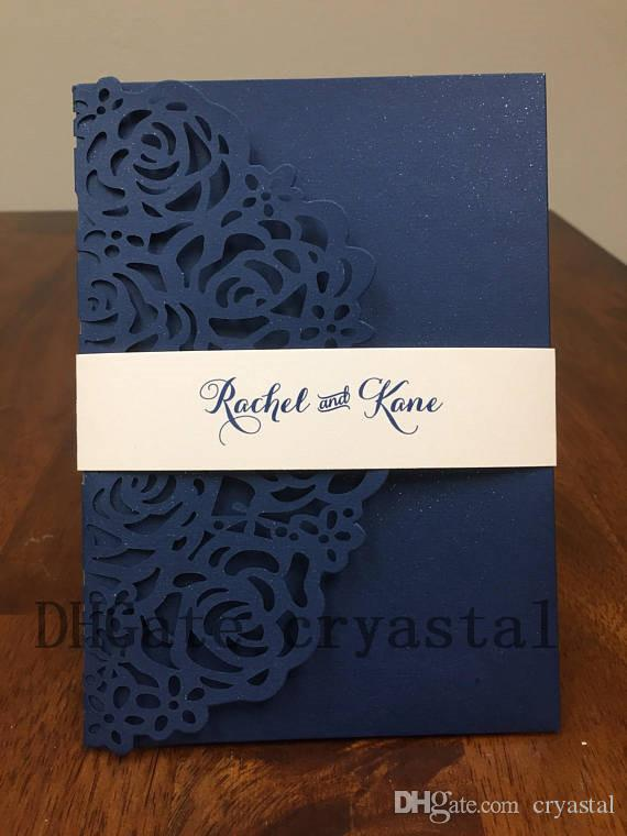 Pocket Only Diy Gorgeous Laser Cut Wedding Invitation No Inserts Or
