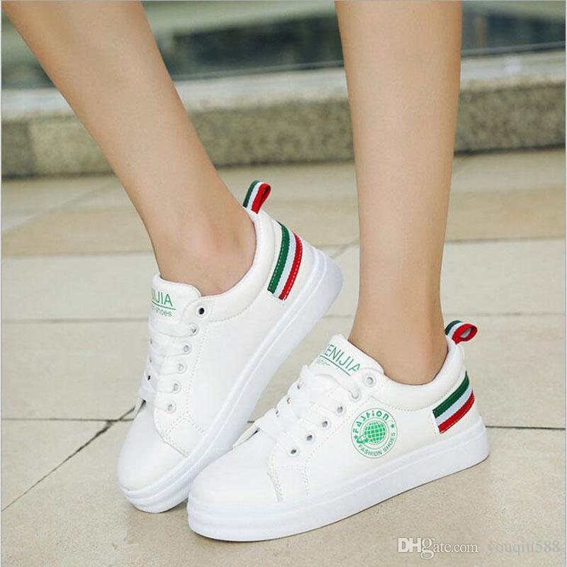 2018 Elegant Trendy Sneakers Women Leather Shoes Comfortable Sewing  Platform Sneakers Ladies Superstar Shoes Large Size 36 39 Pumps Shoes Munro  Shoes From ... 2cb704fb2