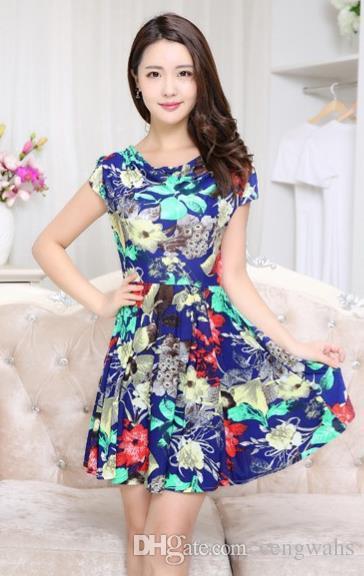 05bbe1b04e53 Acquista Fashion Dress Big Code Nel 2018 Vestito Nuovo Di Mezza Età In  Versione Sud Coreana Del Vestito Di Un Pezzo Di Stile Lungo. A  13.57 Dal  Cengwahs ...