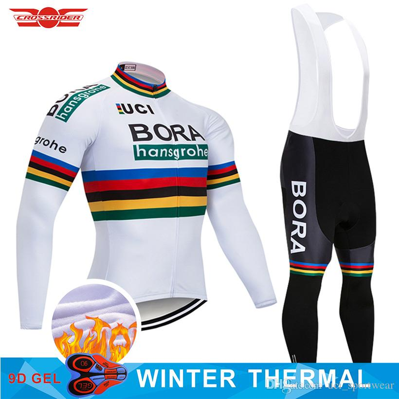 cbb3295dd 2018 Pro Team BORA Winter Thermal Fleece Cycling Jersey Bike Pants Set Mens  9D Pads Ropa Ciclismo Bicycle Clothes Cycling Wear Bicycle Jersey Bike Shirt  ...