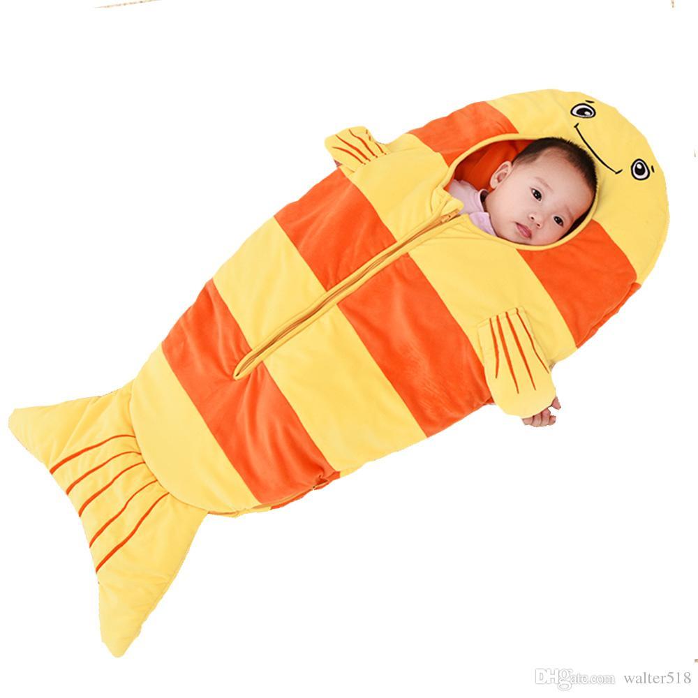 Baby bedding Sacchi a pelo bambini Sacco a pelo bambini infante Toddler spring summer cartoon animals sleep bag lion XHY023