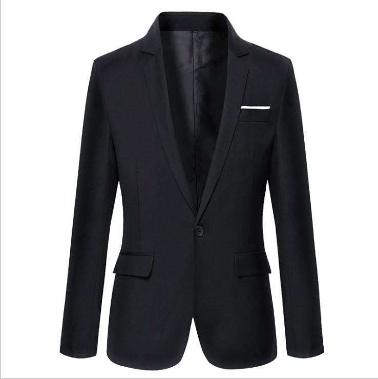 NEW Custom Design One Button Fashion Men Blazer Long Sleeve Groom Tuxedos Lapel Best Man Groomsmen Wedding Suits Business Jacket Casual Coat