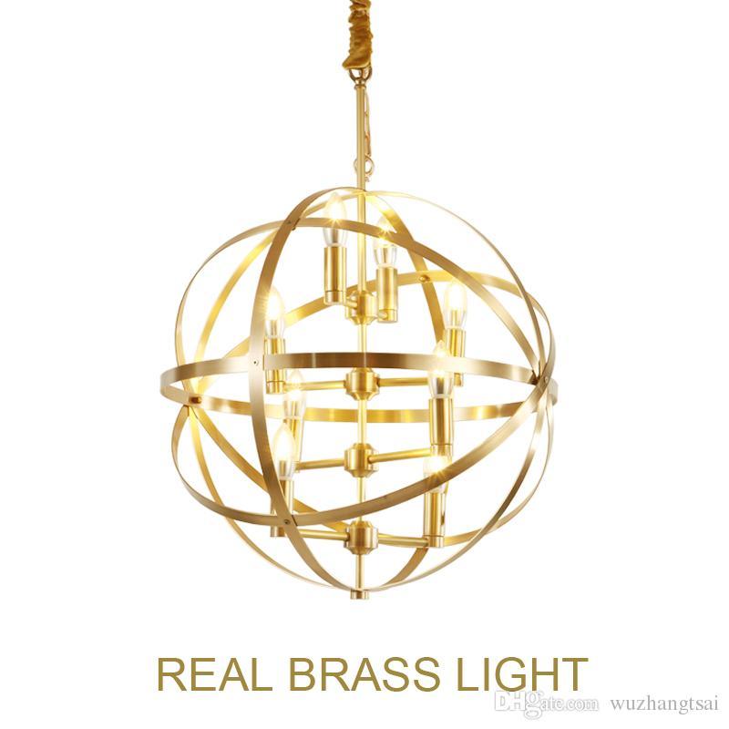 Global Suspension Designer Showroom Anneau Suspendu Doré Moderne Led Lumière Pendentif Laiton Lampe Luxe Globe Cuivre WD9EH2YI