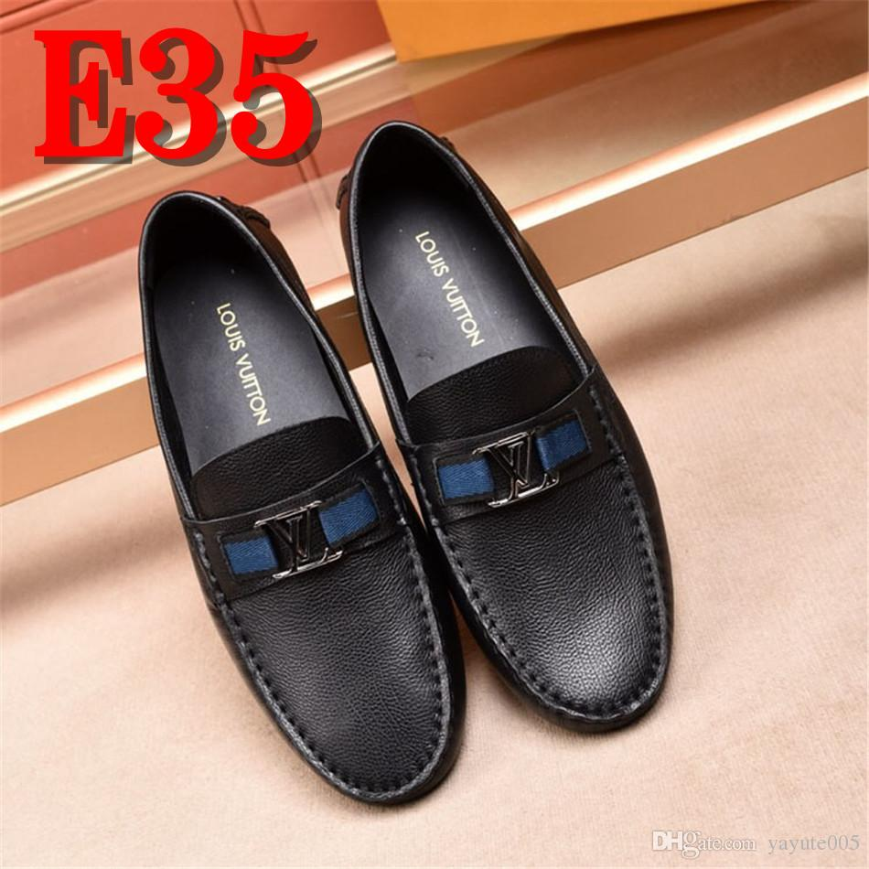 64a19a31431 Driving Shoes Mens Loafers Shoes Crocodile Genuine Cow Leather High Quality  Men Flats Gommino Slip On Moccasins Push Size 38 44 Moccasins For Men Suede  ...