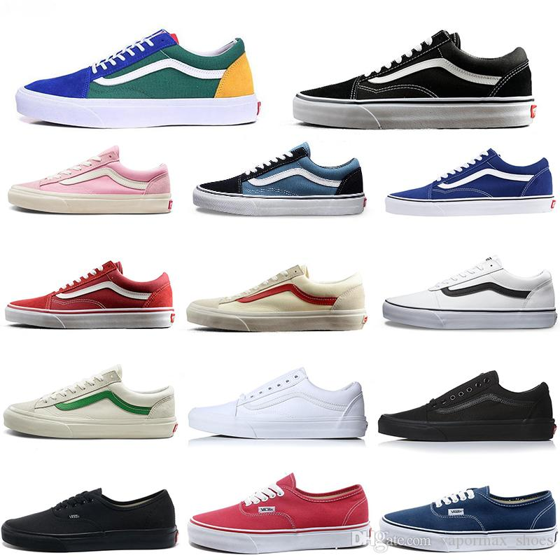 Acquista Scarpe Classiche Originali Vans Old Skool Nero Blu Rosso Mens  Sneakers Donna Canvas Novità Arriva Fashion Skateboard Scarpe Casual A   81.22 Dal ... 77480852b92