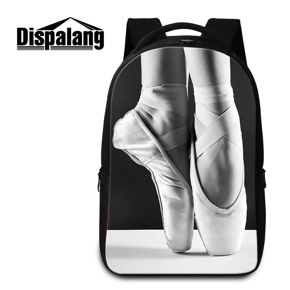 6de2b8dbb608 Ballet Toe Shoe Laptop Backpacks For Girls Cute School Bags Fashion Bookbag  For Middle School Students Travel Back Pack Mochila Escolar Kids Travel ...