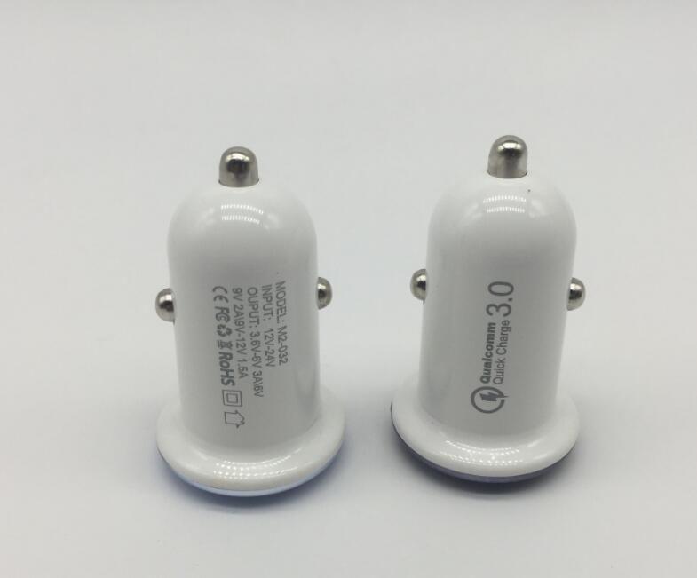 Qc3.0 Rápido 1 Port Portátil Mini Telefone Elétrico Universal Usb rápida Car Charge Para iPhone Samsung Xiaomi ouro