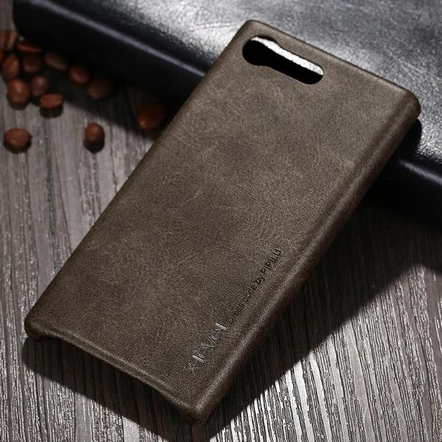 online store 62eb1 9183f X-Level New Vintage Leather Phone Case For Sony Xperia X Compact F5321  Ultra thin Protective Back Cover For Sony X Mini capas