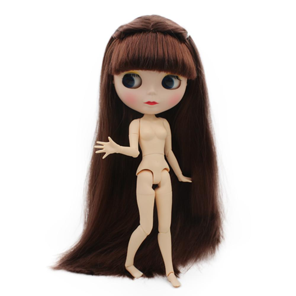 Dolls & Stuffed Toys Dolls 100% Quality Blyth With Blue Hair Naked Doll Selling