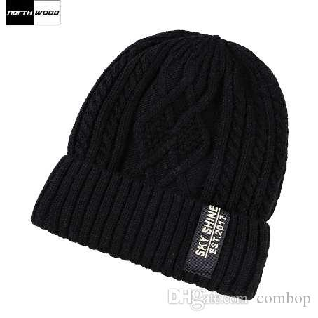 3a980f8bdc8 NORTHWOOD Warm Plus Velvet Beanie Ski Knitted Winter Hats For Men ...