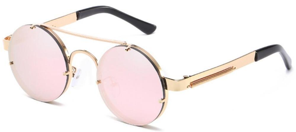 55f21aa3d6 Compre 2018 Prouddemon New Retro Round Steampunk Sunglasses Women Luxury Popular  Metal Spring Gafas De Sol Para Hombres Espejo Grande Lentes A $12.19 Del ...