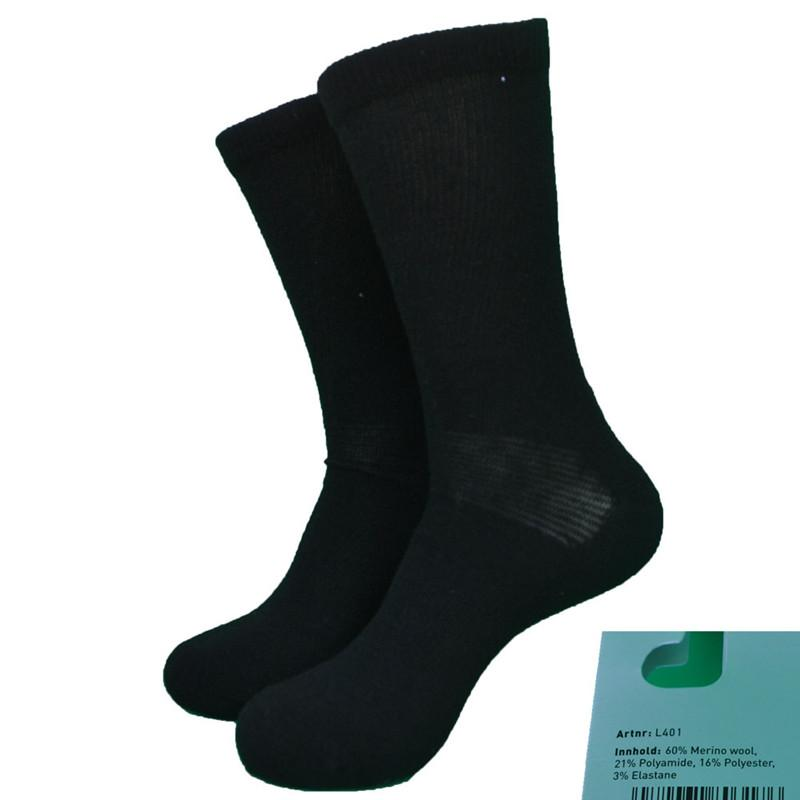b5911d346fa9af 2 Paar schwarze Merinowolle Active Thick Walking Socks Herren Socken Damen  Socken