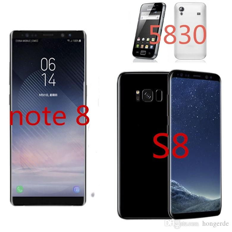 S8 S8+ note 8 6 3 inch MTK6580 Unlocked cell phone Quad Core Android 1G Ram  4G/8G/16G Rom i5830 512MB Ram 150MB single core Rom smart phone
