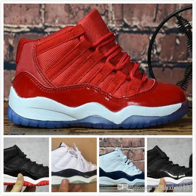 88035171e00 New Retro Space Jam Kids air Sports 11 Basketball Shoes GS Children's  Heiress Suede Maroon Retro Bred 11s Blue Moon Sunset Sneakers