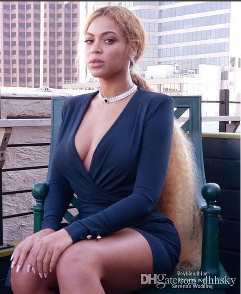 Abito da sera Yousef aljasmi Kim kardashian Manica con scollo a V con scollo a V Mini increspato gianninaazar ZuhLair murad Ziadnakad a7