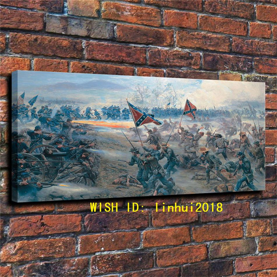 Battle of Gettysburg Facts,Home Decor HD Printed Modern Art Painting on  Canvas (Unframed/Framed)