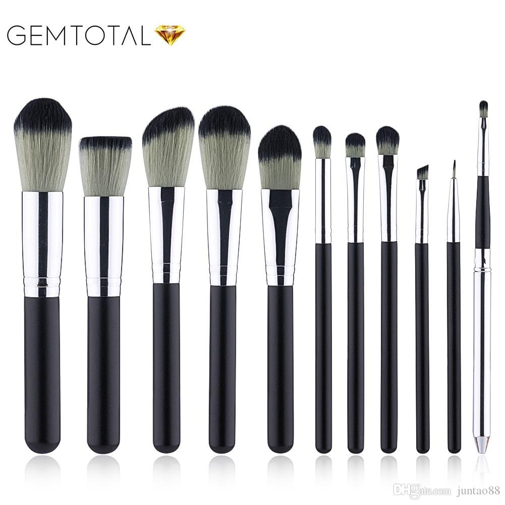 11Pcs/piece Black Makeup Brushes Set pincel maquiagem Cosmetics maquillaje Makeup Tool Powder Eyeshadow Cosmetic Set With Pu Case