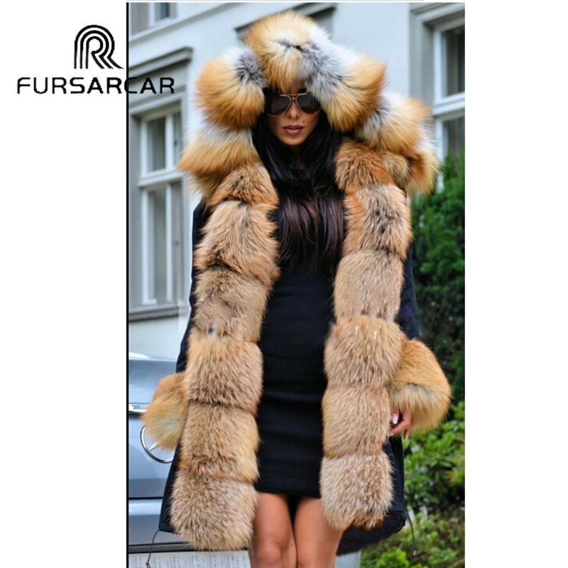 2018 Nouvelle Fursarcar Hiver De Acheter En Parka Luxe Veste Femmes TPOwq5q 127fd526474