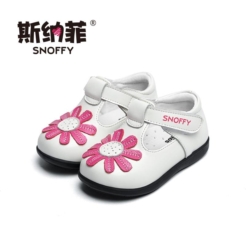 1dbc527a780d Snoffy 1 3 Years Toddler Baby Shoes Soft Sole Girls Patent Leather Shoes  Spring Flower Infant Prewalker TX281 Leather Kids Boots Leather Toddler  Sandals ...