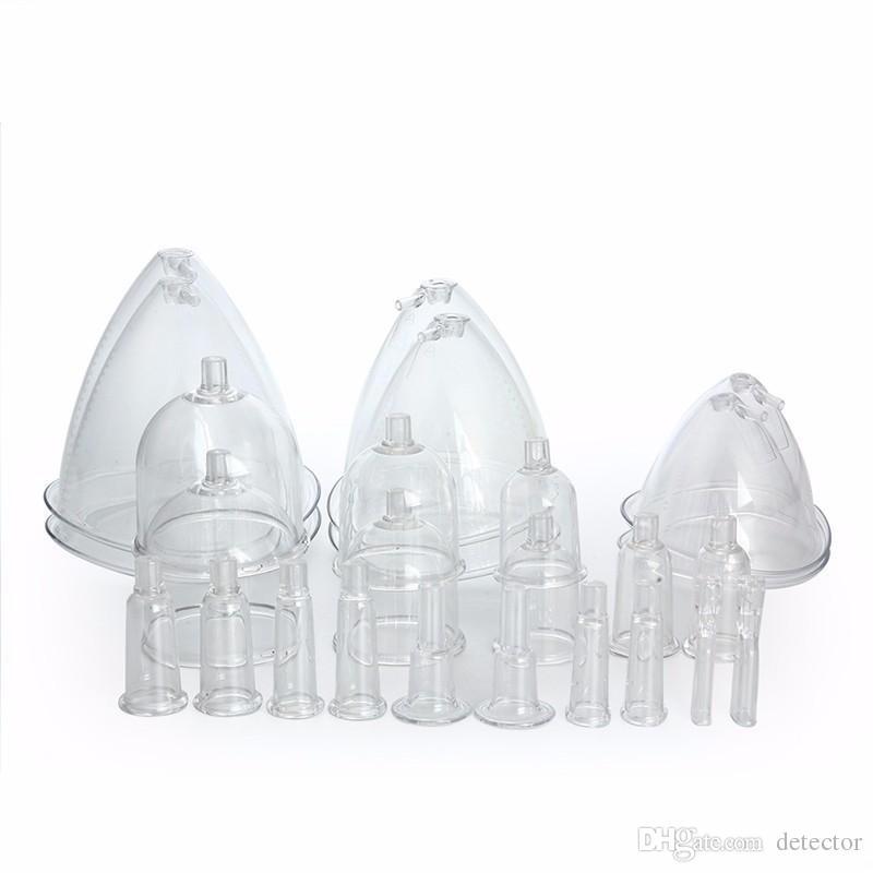 EU 면세! 3size 컵 진공 치료 유방 확대 증진 브래지어 유방 마사지 기계 아름다움 장비를 형성하는 리프팅 바디