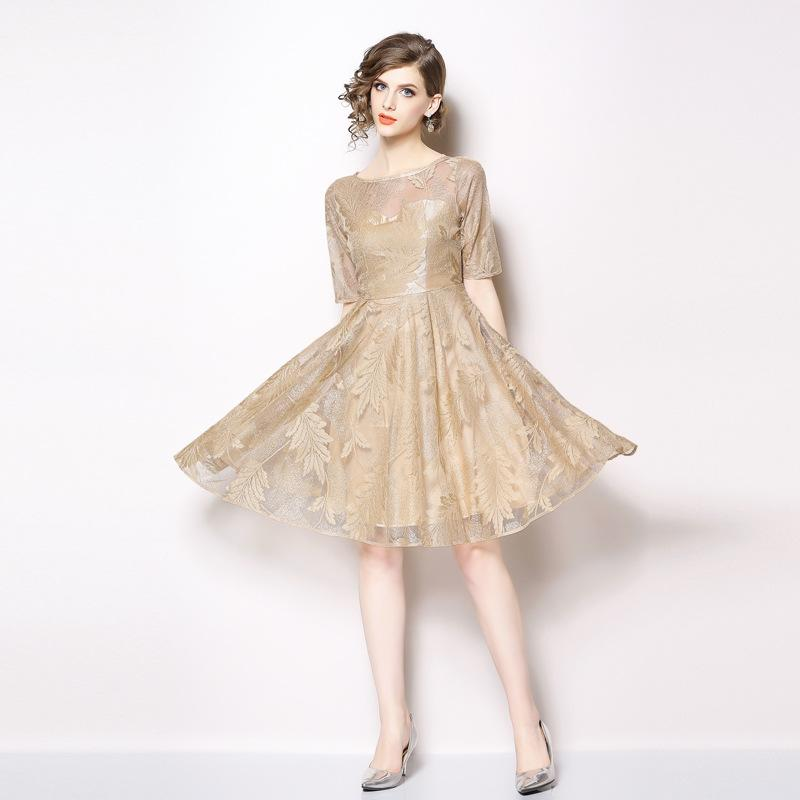 f8034d330bb55 Formal Party Dresses Girls Evening Ball Gowns Short Sleeve Slim Fit New  Design Elegant Lace Dress