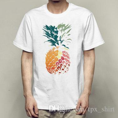 Satın Al Ananas T Gömlek Güzel Boyama Kısa Kollu Elbisesi Güzel Tees