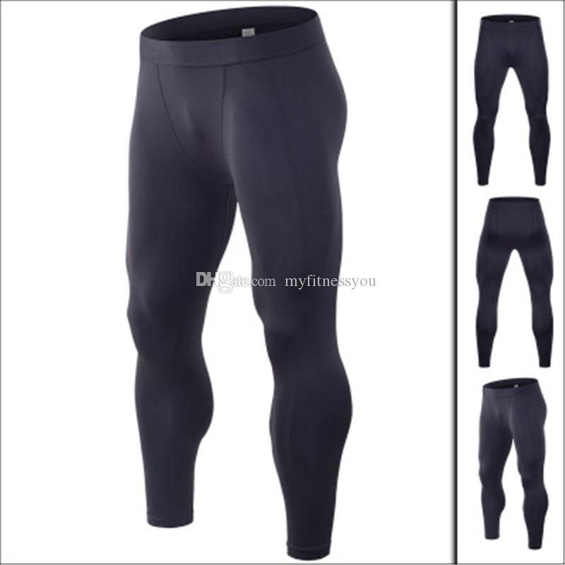 ee9f4b04ba6df0 2019 2019 Brand Sport Leggings Men Sexy Gym Compression Fitness Gym Clothing  Long Warm Underwear Basketball Football Running Pants Plus Size XXXL From  ...