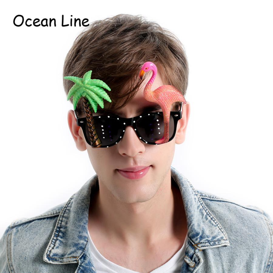 Funny Decorative Flamingo Beach Party Miami Style Costumes Sunglasses  Glitter Beach Glasses Event Party Supplies Decoration