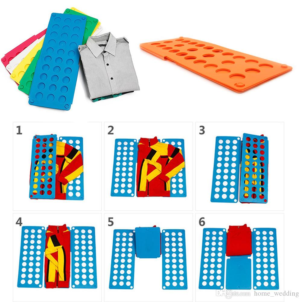 Practical Home Convenient Clothes Folder Organizer Plastic Quick T-Shirt Clothes Laundry Shirt Fold Folding Board