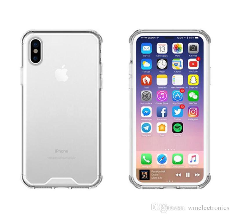 Clear Armor Back Case para iPhoneX Crystal Hybrid Phone Funda de parachoques para iPhone 8 7 6 6s 6sPlus