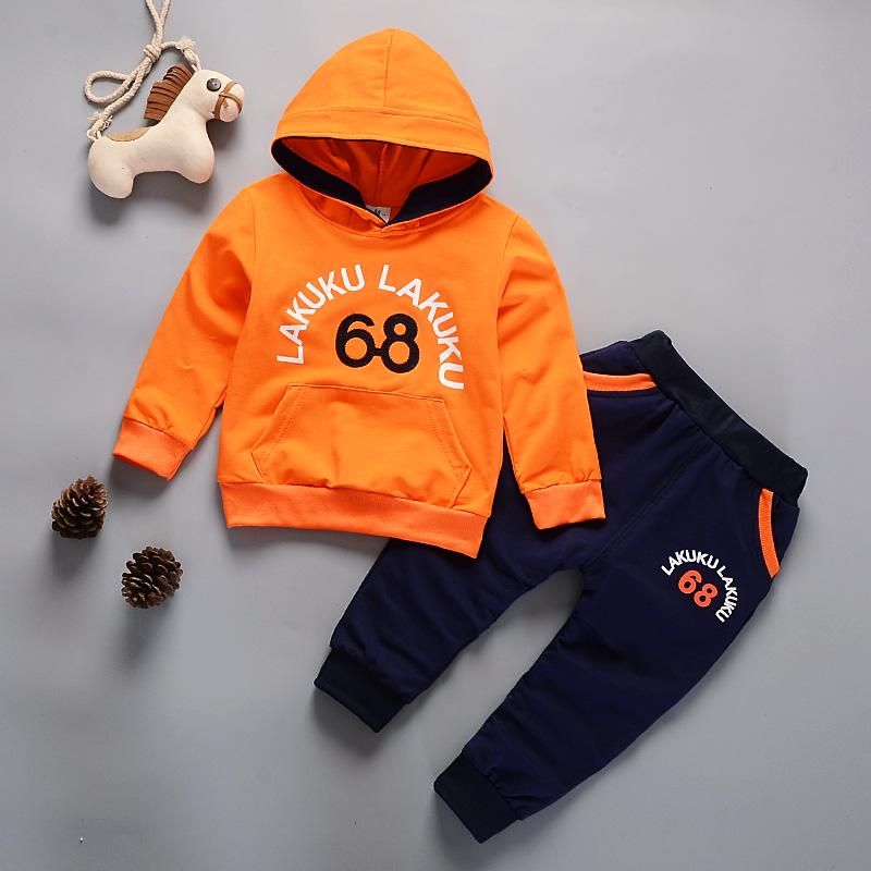 Toddler Tracksuit Autumn Baby Clothing Sets Children Boys Girls Fashion Brand Clothes Kids Hooded T-shirt And Pants Suits